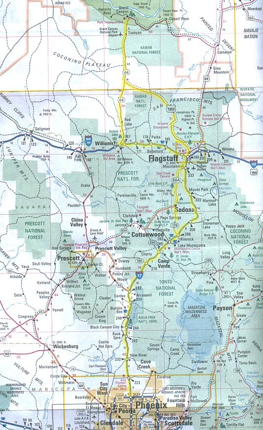 Grand Canyon Day Ride Map